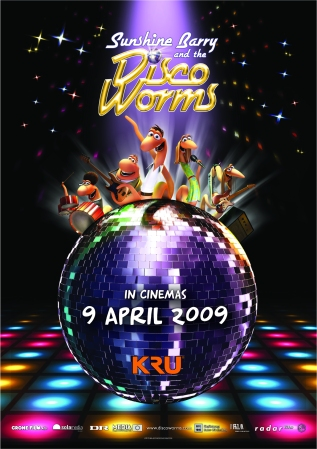 Disco Worms Poster